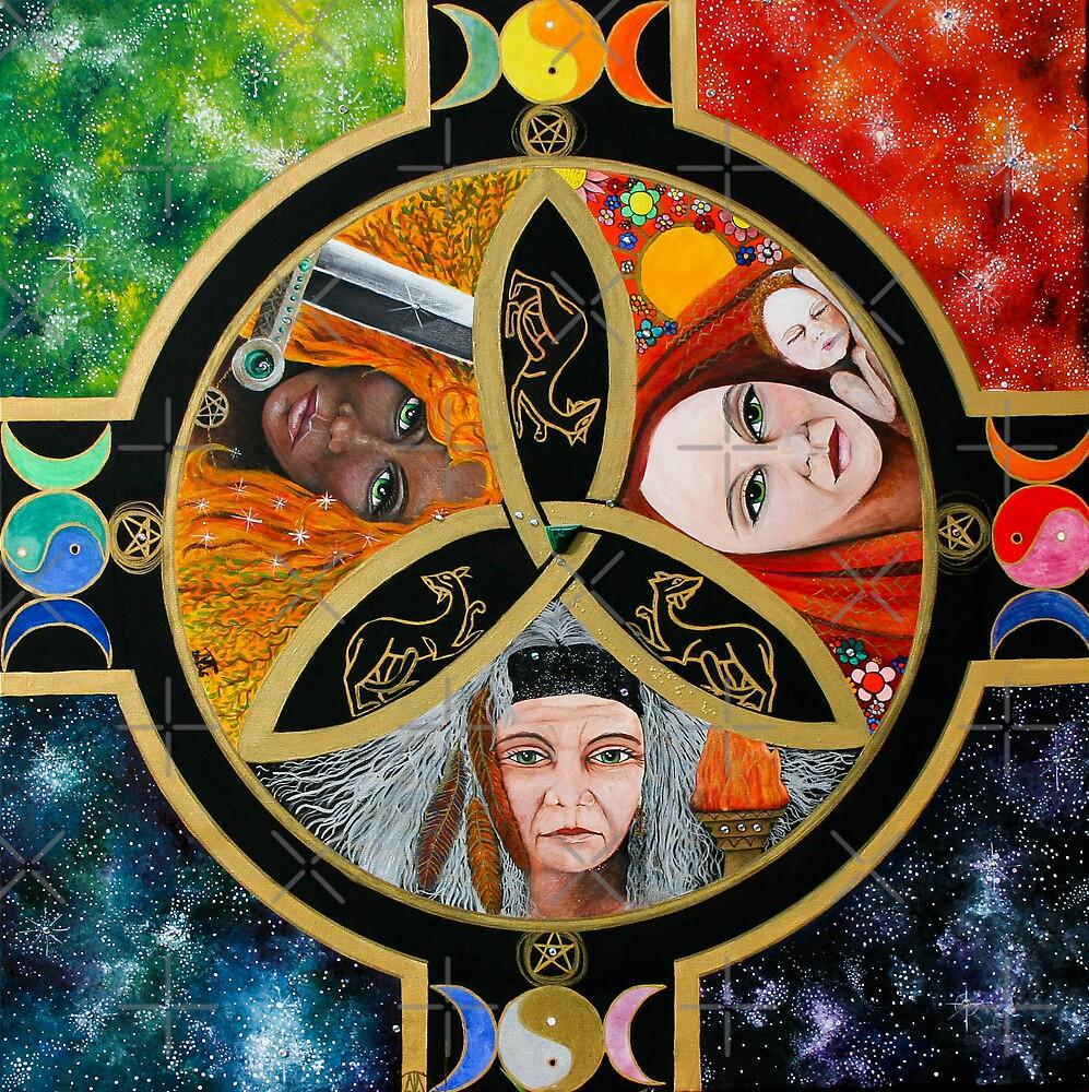 Triple Goddess Mandala by Marg Thomson by fullcirclemandalas  is Marg Thomson
