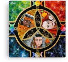 Triple Goddess Mandala by Marg Thomson Canvas Print
