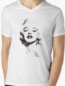 Marilyn Monroe portrait 02 Mens V-Neck T-Shirt