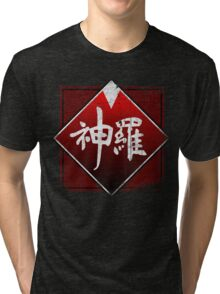 Shinra grunge logo Tri-blend T-Shirt