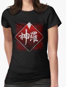 Shinra grunge logo Womens Fitted T-Shirt