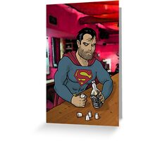 Bad Superman Greeting Card