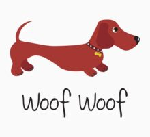 Woof Woof (Sausage dog) One Piece - Short Sleeve