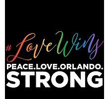 #LoveWins - Remembering Orlando Photographic Print