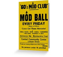 Mod Ball Poster (reproduction) Greeting Card