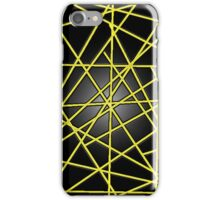 Abstract Phone Case (Yellow) iPhone Case/Skin