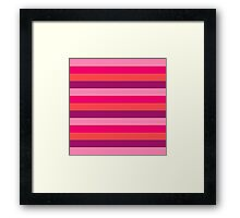 Strawberry & Cherry Pink Fashion Stripes for summer pattern { eco edition } Framed Print
