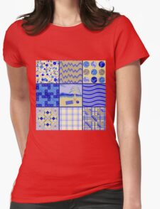 By the Sea - Quasi-Quilt Womens Fitted T-Shirt