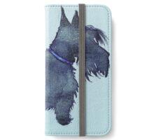 Scottie watercolour (blue) iPhone Wallet/Case/Skin