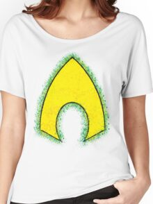Superhero Spray Paint - Aquaman Women's Relaxed Fit T-Shirt