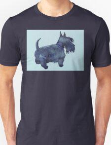 Scottie watercolour (blue) Unisex T-Shirt
