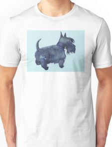 Scottie watercolour (blue) Unisex T-Shirt