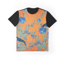Collage Indigo and Orange Graphic T-Shirt