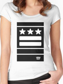 DC Represent (black) Women's Fitted Scoop T-Shirt