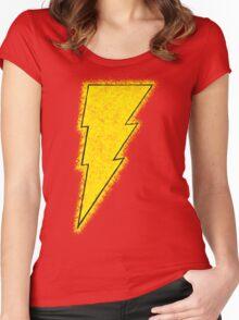 Superhero Spray Paint - Shazam Women's Fitted Scoop T-Shirt