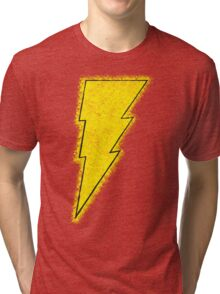 Superhero Spray Paint - Shazam Tri-blend T-Shirt