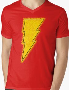 Superhero Spray Paint - Shazam Mens V-Neck T-Shirt