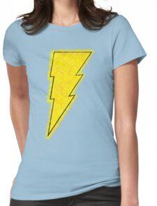 Superhero Spray Paint - Shazam Womens Fitted T-Shirt