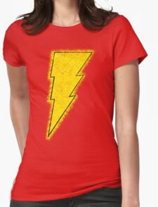 Superhero Spray Paint - Shazam Womens Fitted T-Shirt