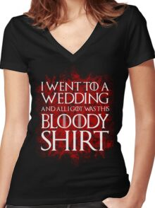 Red Wedding Women's Fitted V-Neck T-Shirt