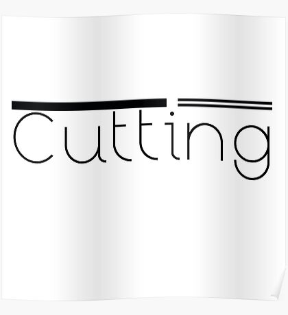 Cutting Poster