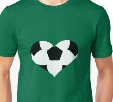 Fußball Herz Unisex T-Shirt