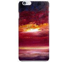 Sunset painting in Oil iPhone Case/Skin