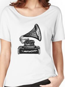Snazzy Gramophone  Women's Relaxed Fit T-Shirt
