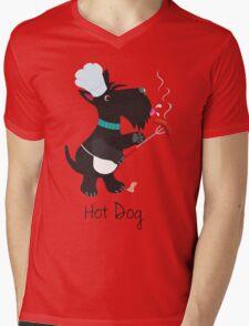 Scottie Dog, Hot Dog Mens V-Neck T-Shirt