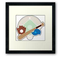 Baseball Stuff Framed Print