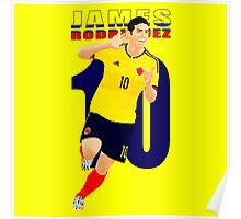 JAMES RODRIGUEZ, 10, COLOMBIA, VECTOR Poster