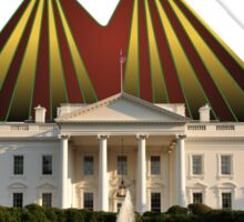 The Grand Spectacle - the White House Circus....The Race for the US White House 2016 Sticker