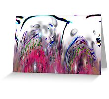 Abstract Pink Swirls Greeting Card