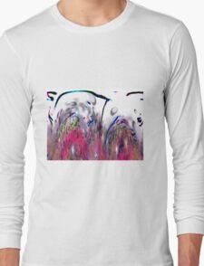 Abstract Pink Swirls Long Sleeve T-Shirt