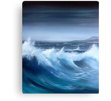 Seascape original oil painting Canvas Print