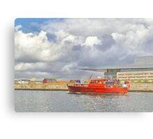 Cabin Cruiser and the Copenhagen Opera House Metal Print