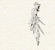 Sephiroth's wing grunge black Zipped Hoodie