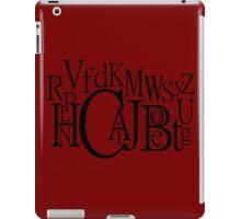 Sans Font Alphabet Soup iPad Case/Skin