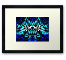 Digital Blue World Framed Print