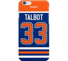 Edmonton Oilers Cam Talbot Jersey Back Phone Case iPhone Case/Skin