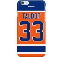 Edmonton Oilers Cam Talbot Alternate Jersey Back Phone Case iPhone Case/Skin
