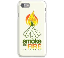 smoke the fire iPhone Case/Skin