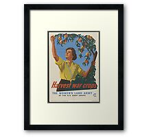 The Women's Land Army Framed Print