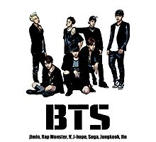 BTS Bangtan Boys Photographic Print