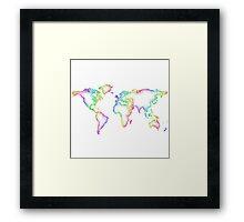 Rainbow World map Framed Print
