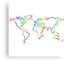 Rainbow World map Canvas Print