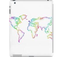 Rainbow World map iPad Case/Skin