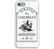 Pirates of the Caribbean Ride Sign iPhone Case/Skin