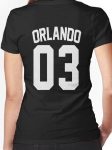 Johnny Orlando's Jersey Women's Fitted V-Neck T-Shirt