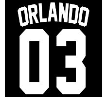 Johnny Orlando's Jersey Photographic Print
